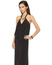 T-bags | Convertible Maxi Dress with Necklace - Black | Lyst