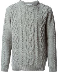 Soulland Aran Knit Sweater - Lyst