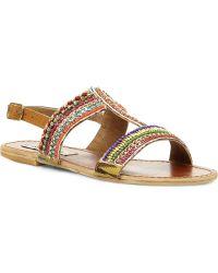 Steve Madden Gildedd Embellished Tbar Sandals Multiplain Synthetic - Lyst