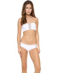 Mikoh Swimwear Velzyland Skinny String Bikini Bottoms Foam - Lyst