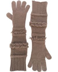 Agnona - Long Ribbed Cuff Gloves - Lyst