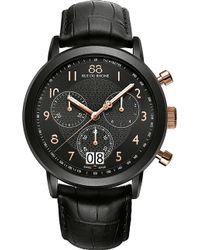 88 Rue Du Rhone - 87wa130023 Double 8 Origin Men's Chronograph Leather Strap Watch - Lyst
