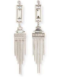 R.j. Graziano - Fringe Chandelier Earrings - Lyst