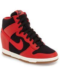 Nike - 'dunk Sky Hi - Essential' Wedge Sneaker - Lyst