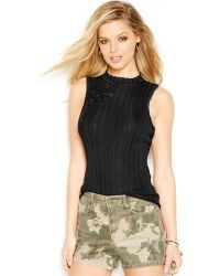 Guess Sleeveless Turtleneck Sweater - Lyst