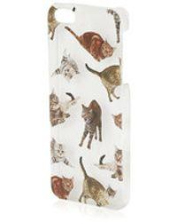 Topshop Cat Print Iphone 5 Cover - Lyst