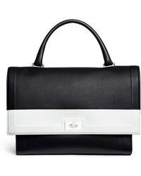 Givenchy   'shark' Medium Turn Lock Flap Colourblock Leather Bag   Lyst