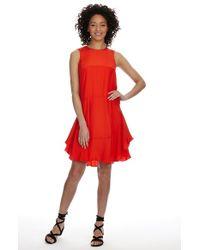 Donna Morgan Charmeuse Tiered Drop Waist Dress - Lyst