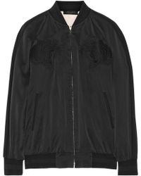 Rag & Bone Akita Reversible Washed-silk Bomber Jacket - Lyst