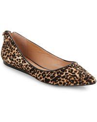 Vince Camuto Signature Leopard-Print Calf Hair Flats - Lyst