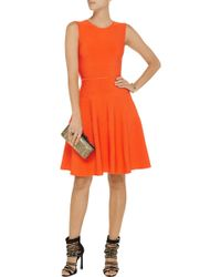 Issa Orange Stretch-knit Dress - Lyst