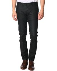 Selected Poul Black Wax-Coated Jeans - Lyst