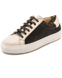 By Malene Birger - Ceall Lace Up Suede Sneakers - Light Beige - Lyst