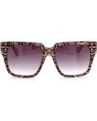 Anna Karin Karlsson Coco  The Row Sunglasses - Snake Pearl - Lyst