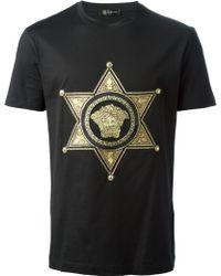 Versace Star Embossed Medusa T-shirt - Lyst