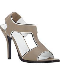 Jil Sander Layered T-Strap Sandals - Lyst