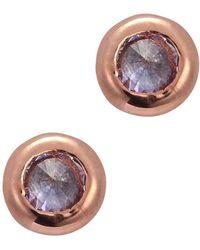 Katie Rowland - Mini Talon 18Kt Rose Gold Vermeil Earrings - Lyst