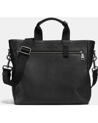 Coach Utility Tote In Pebble Leather black - Lyst