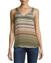 Michael Stars Silk Striped Tank Top - Lyst