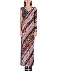 Missoni Long Dress red - Lyst