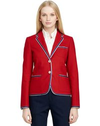 Brooks Brothers Cotton Tipped Jacket - Lyst