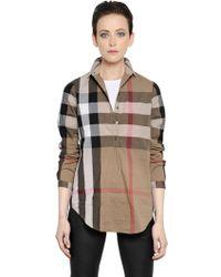Burberry Brit Checked Cotton Poplin Shirt - Lyst