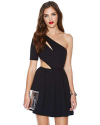 Nasty Gal Side Out Dress - Lyst