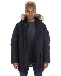 Penfield | Hoosac Hooded Down Mountain Parka In Black | Lyst