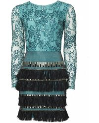 Matthew Williamson Lattice Feather Lace Embroidered Dress - Lyst