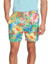 Polo Ralph Lauren Traveler Floral Swim Shorts - Lyst
