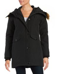 Vince Camuto - Faux Fur-trimmed Hooded Jacket - Lyst