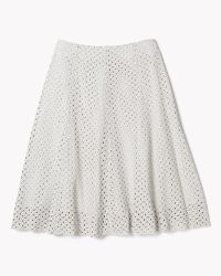 Theory Bhima Skirt In Lasercut Leather - Lyst