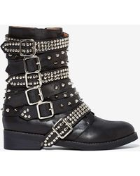 Nasty Gal Jeffrey Campbell Cruzados Leather Boot - Lyst
