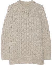 Michael Kors Cable Knit Sweater - Lyst
