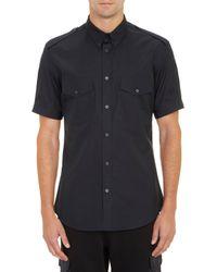 Alexander McQueen Epaulet Shortsleeve Shirt - Lyst