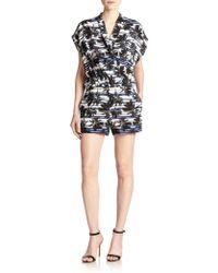 L'Agence Palm Tree Short Jumpsuit - Lyst