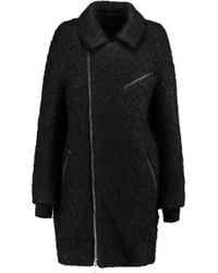 DKNY - Wool And Mohair-blend Coat - Lyst