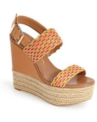 Jessica Simpson 'Allyn' Wedge Platform Leather Sandal - Lyst