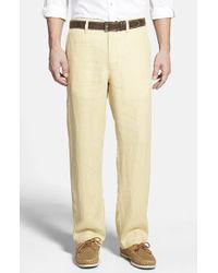 Tommy Bahama 'Summerland Keys' Flat Front Linen Pants beige - Lyst