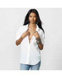 Denim & Supply Ralph Lauren Cotton Gauze Boyfriend Shirt - Lyst
