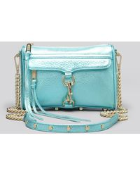 Rebecca Minkoff Crossbody Metallic Mini Mac - Lyst