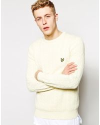 Lyle & Scott Lyle & Scott Sweater With Cable Knit - Lyst