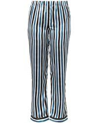 Raphaëlla Riboud - Frantz Striped Silk Pyjama Trousers - Lyst