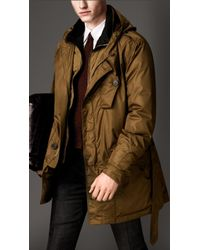 Burberry Showerproof Hooded Parka with Detachable Warmer - Lyst