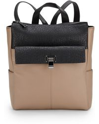 Saks Fifth Avenue - Two-tone Faux Leather Zip-top Backpack - Lyst