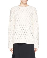 The Row 'Jude' Chunky Knit Sweater - Lyst
