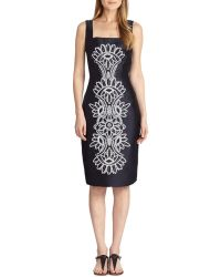 Tory Burch Lily Embroidered Silk Dress - Lyst