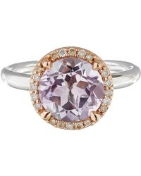 Dinny Hall | Rose De France And Diamond Susu Ring | Lyst