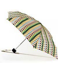 Lulu Guinness Milan Weave Print Tiny Umbrella - Lyst