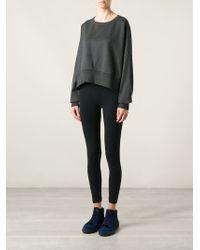 Y-3 Gray Cropped Sweatshirt - Lyst